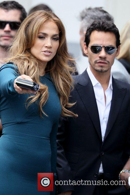 Jennifer Lopez and Marc Anthony Simon Fuller receives...