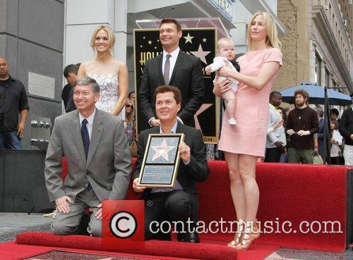 Carrie Underwood, Ryan Seacrest Simon Fuller with his...