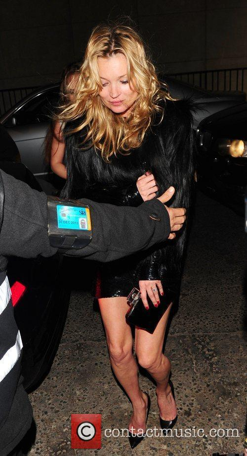 Leaving Mosimann's club after celebrating Sir Philip Green's...