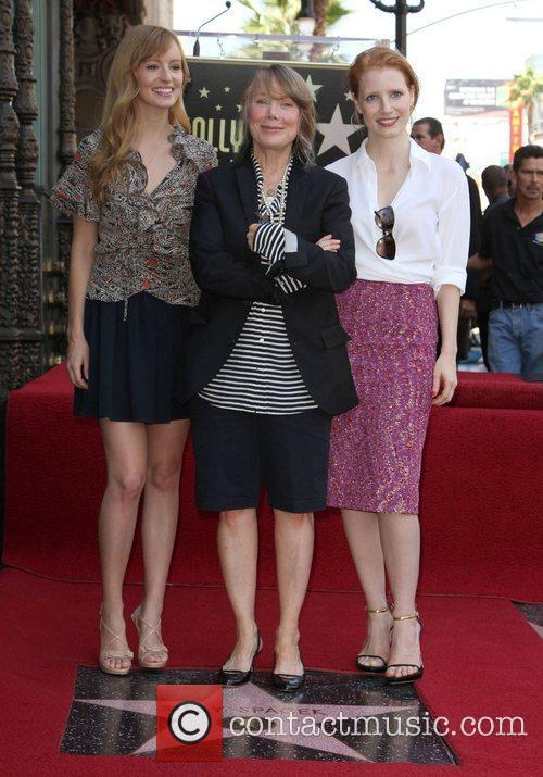 Ahna O'Reilly, Sissy Spacek and Jessica Chastain Sissy...