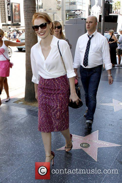Attends a star ceremony on the Hollywood Walk...