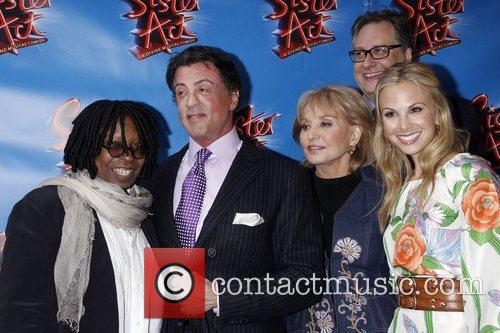 Whoopi Goldberg, Barbara Walters, Douglas Carter Beane, Elisabeth Hasselbeck and Sylvester Stallone 2