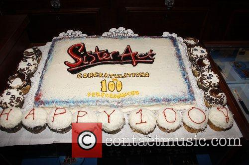 Atmosphere Cast members celebrate the 100th performance of...