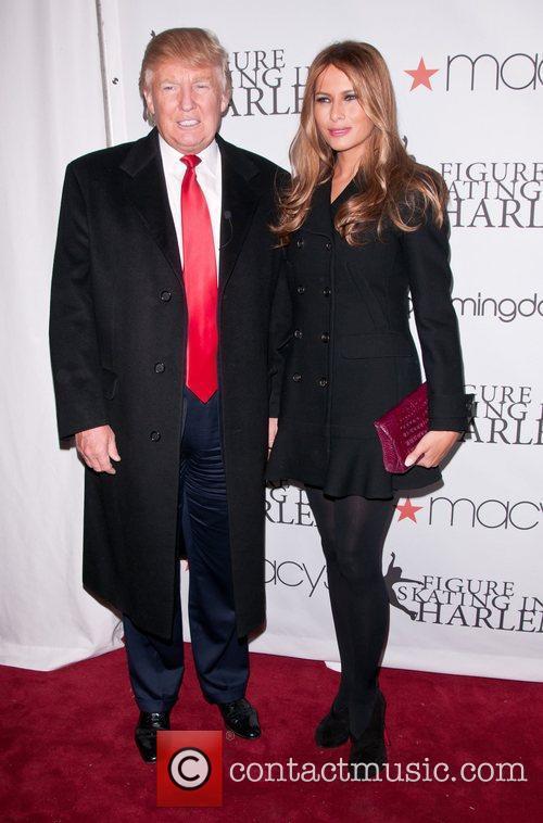 Donald Trump, Milania Trump 2011 Skating With The...