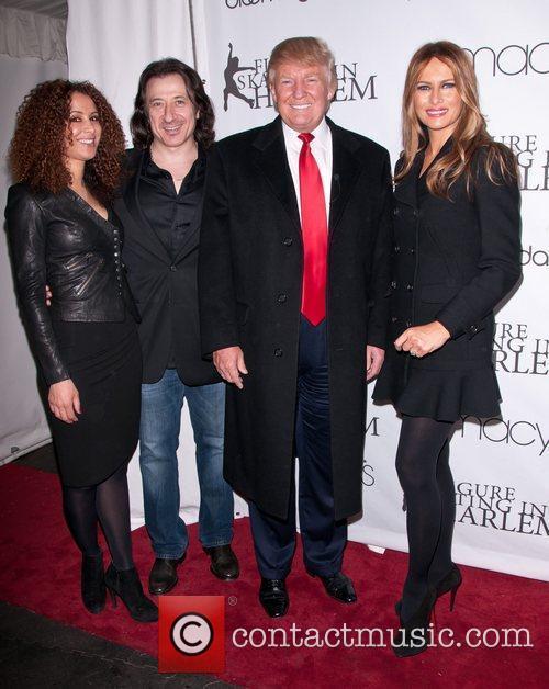 Donald Trump, Milania Trump and Guests 2011 Skating...