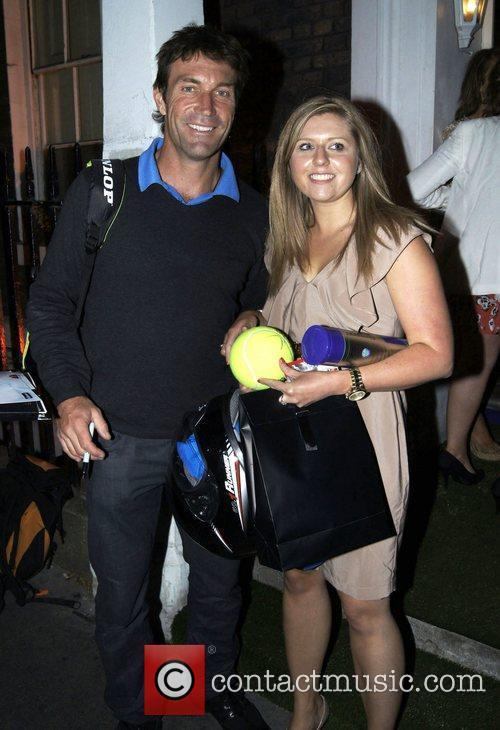 Pat Cash,  at the Slazenger Party held...