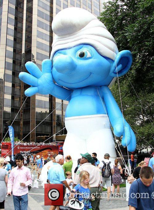New York Smurf Week kick off ceremony at...