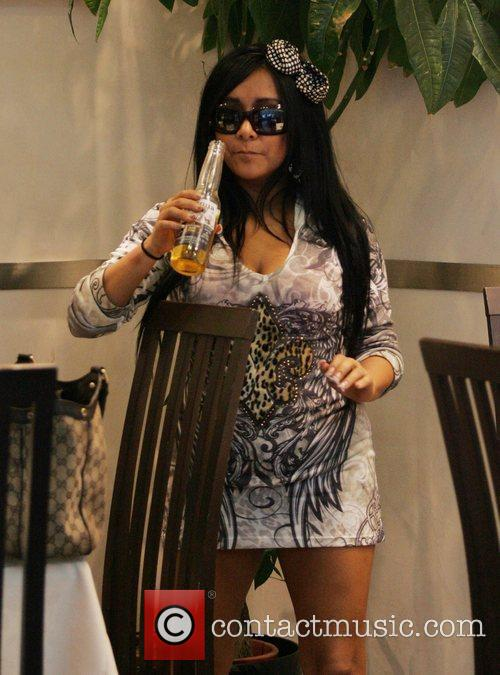 Nicole Polizzi aka Snooki filming for MTV's 'Jersey...