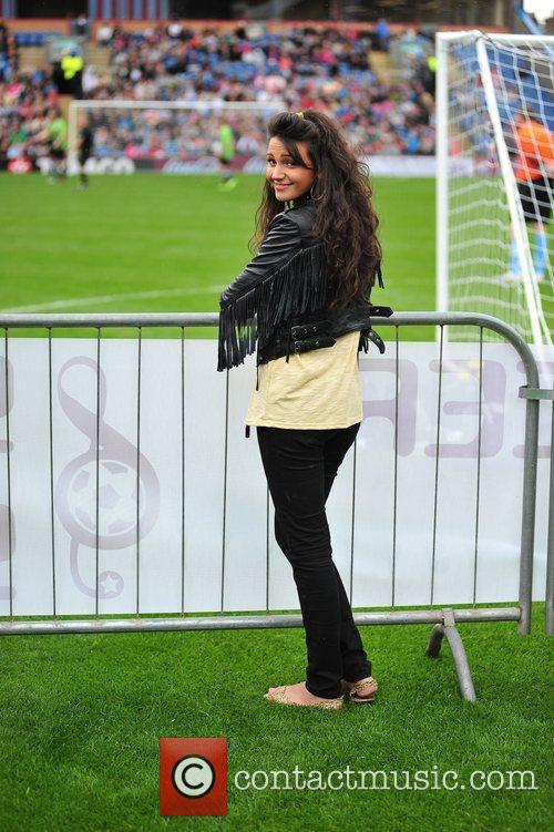 Michelle Keegan The Celebrity Soccer Six tournament held...