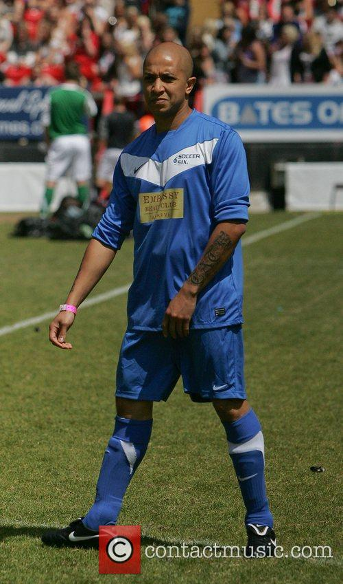The Celebrity Soccer Six tournament held at The...