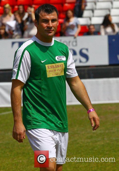 Joe Calzaghe  The Celebrity Soccer Six tournament...