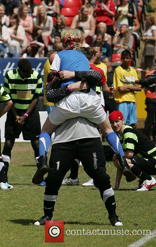 Katie Waissel  The Celebrity Soccer Six tournament...