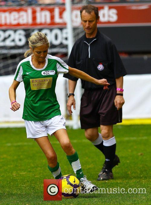 Nikki Grahame  The Celebrity Soccer Six tournament...