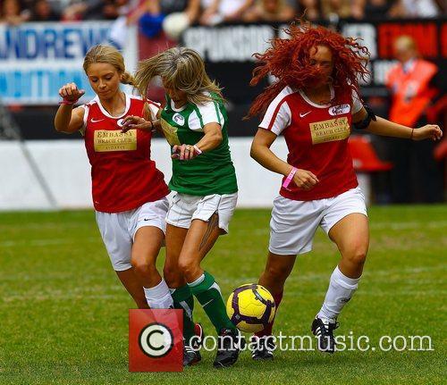 Samantha Fox  The Celebrity Soccer Six tournament...