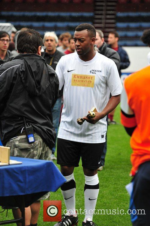 Ortise Williams of JLS The Celebrity Soccer Six...