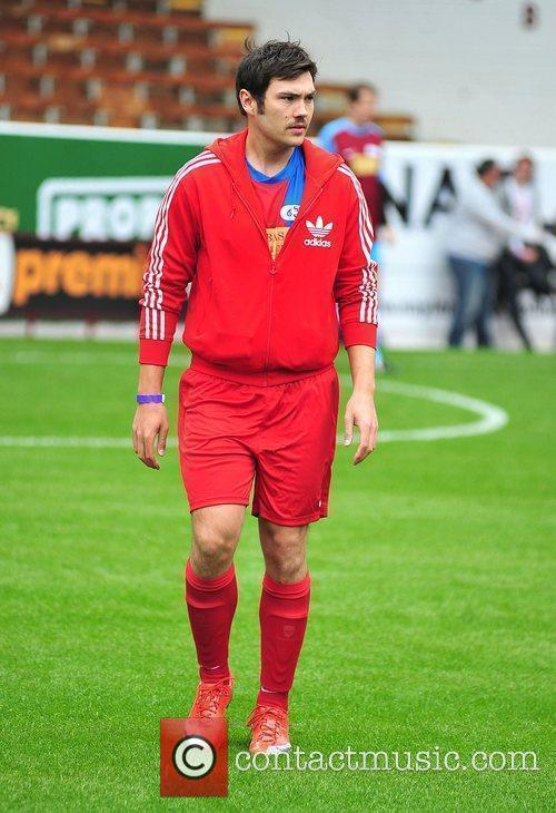 Sam Attwater The Celebrity Soccer Six tournament held...