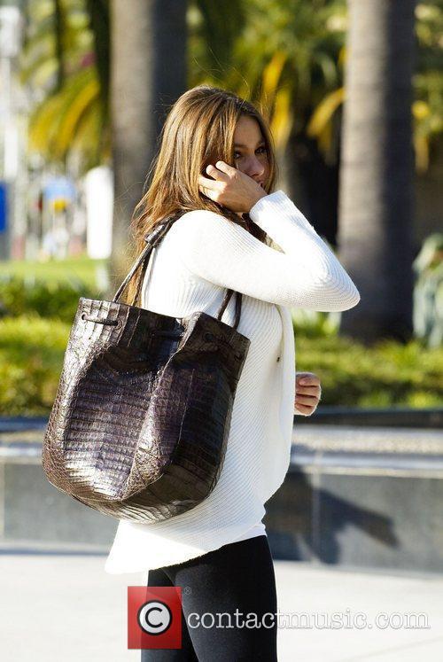Sofia Vergara leaving the Pacific Design Center on...