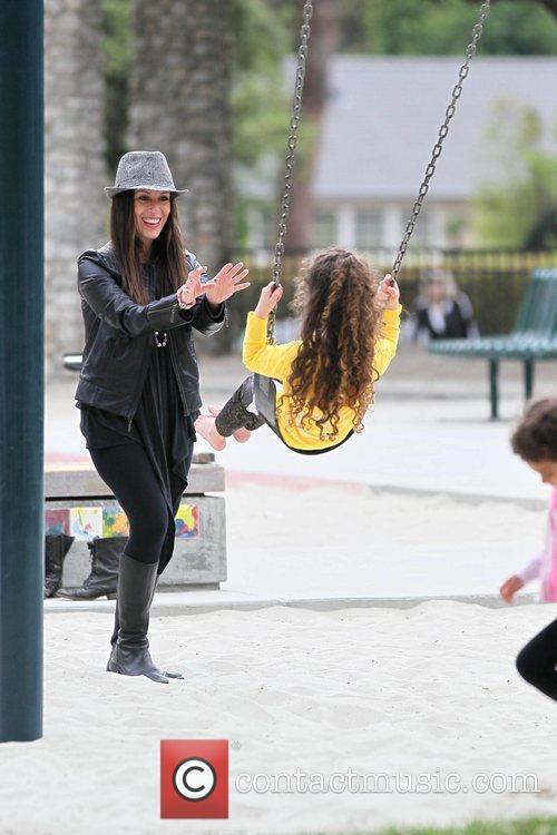 Soleil Moon Frye and her daughter Poet Sienna...