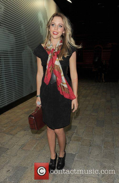 Lydia Rose-Bright leaving the Fashion Week Spring/Summer 2011...