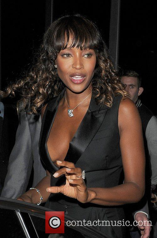 Naomi Campbell leaving the Fashion Week Spring/Summer 2011...