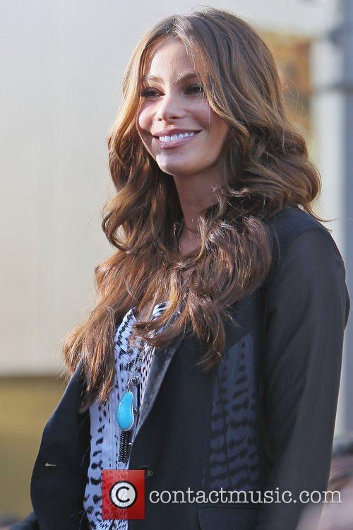 Sophia Vergara interviews with Mario Lopez at The...