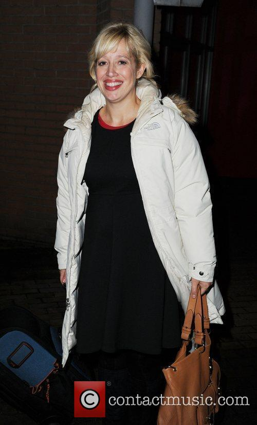 Katy Kavanagh  arrives at the Contact Theatre...