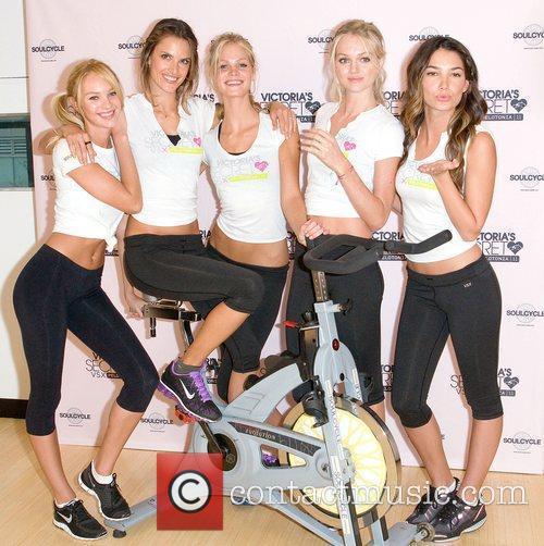 Victoria's Secret models Candice Swanepoel, Erin Heatherton,Alessandra Ambrosio,...