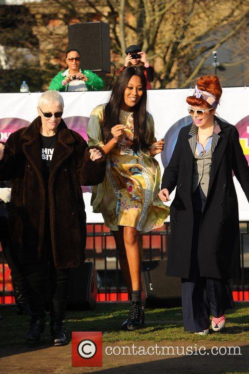 Annie Lennox, VV Brown and Paloma Faith Celebrities...