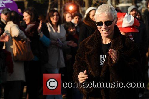 Annie Lennox Celebrities dance the 'Soul Train' to...