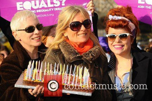 Annie Lennox, Gaby Roslin and Paloma Faith Celebrities...