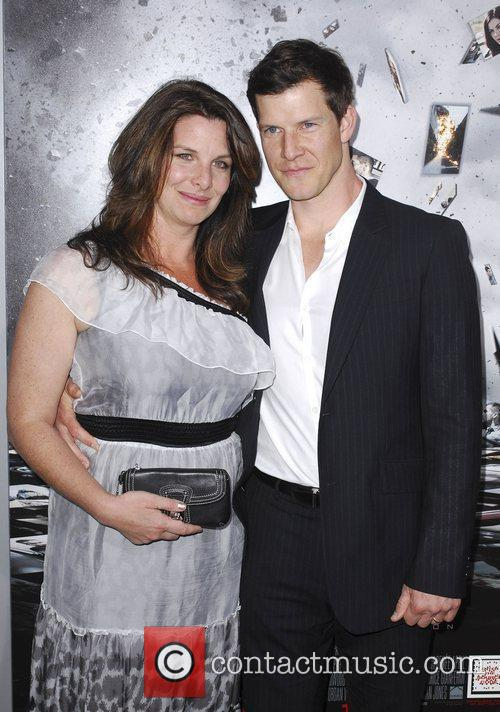 Eric Mabius, wife  Los Angeles Premiere of...