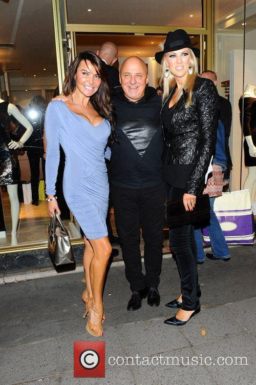Lizzie Cundy, Aldo Zilli & wife at the...