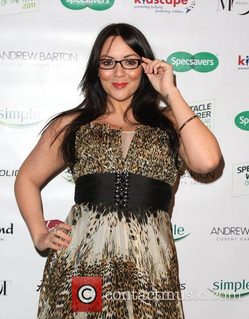 Martine McCutcheon Spectacle Wearer of the Year Awards...