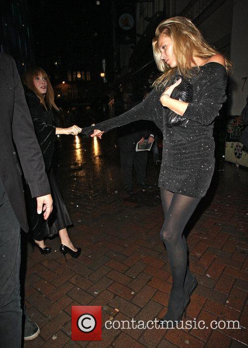 Kate Moss looking 'Dazed and Confused' leaving St...