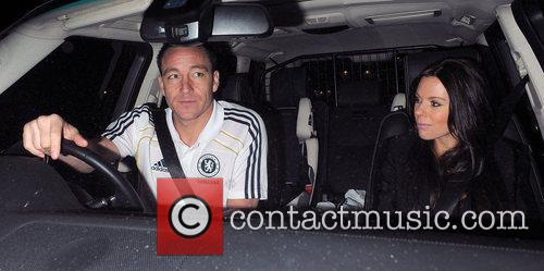 Chelsea FC player John Terry leaving Stamford Bridge...