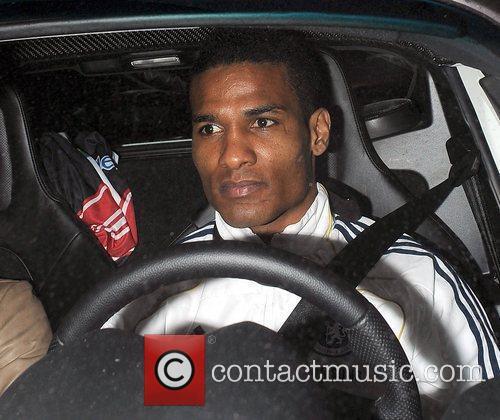 Chelsea FC player Florent Malouda leaving Stamford Bridge,...