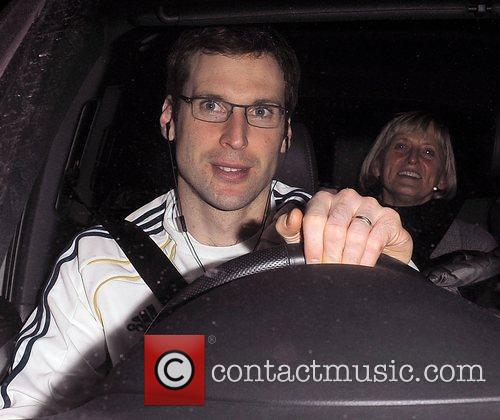 Chelsea FC player Petr Cech leaving Stamford Bridge,...