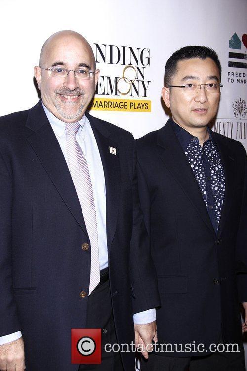 Evan Wolfson and Cheng He  Opening Night...