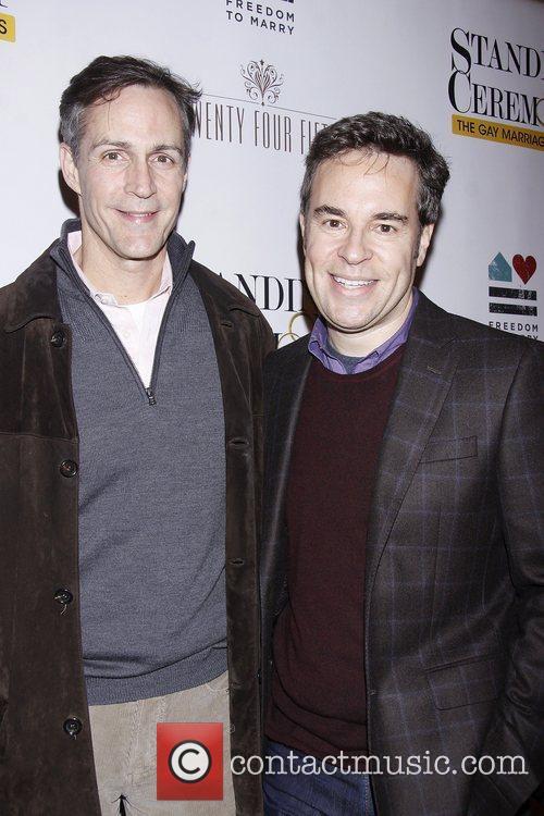 Howard McGillin and Richard Samson  Opening Night...