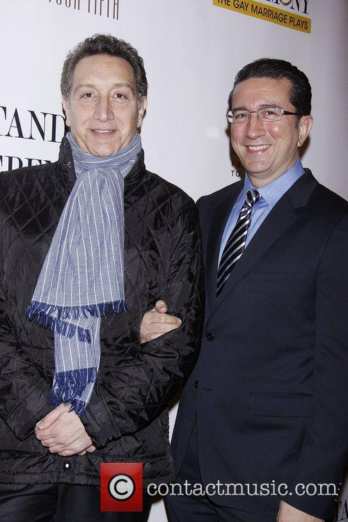 Moises Kaufman and Jeffrey LaHoste  Opening Night...