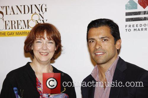 Harriet Harris and Mark Consuelos 6