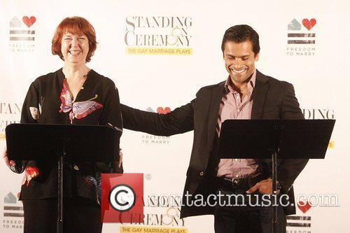 Harriet Harris and Mark Consuelos 1