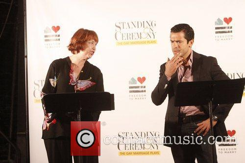 Harriet Harris and Mark Consuelos 9