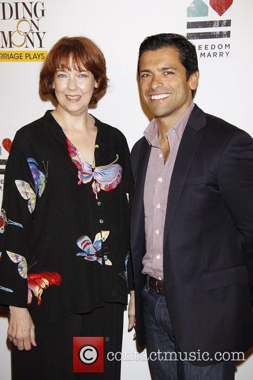 Harriet Harris and Mark Consuelos 5