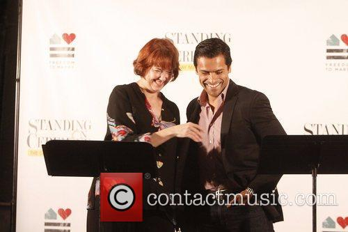 Harriet Harris and Mark Consuelos 2