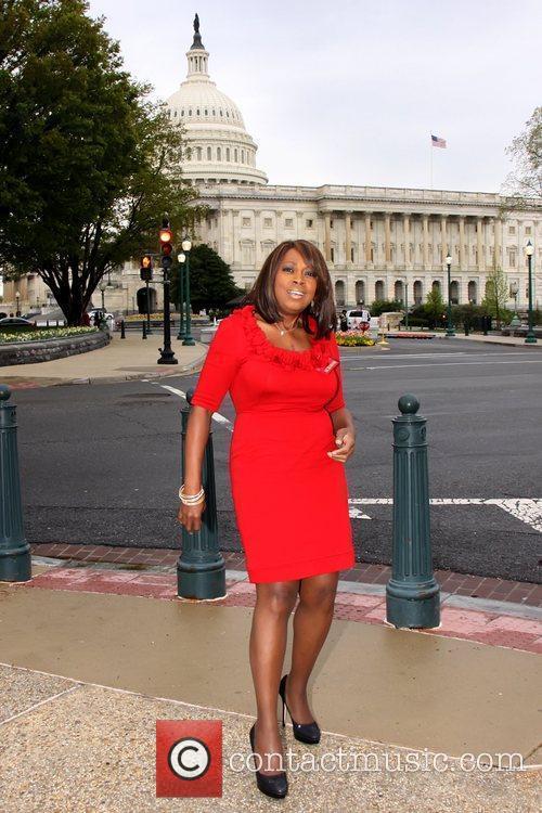 Star Jones outside Capitol Hill where she is...
