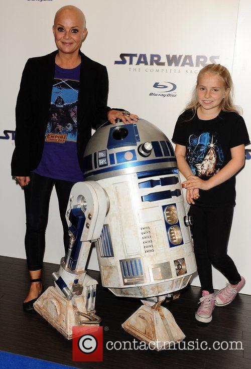Gail Porter and daughter Star Wars Blu-Ray -...