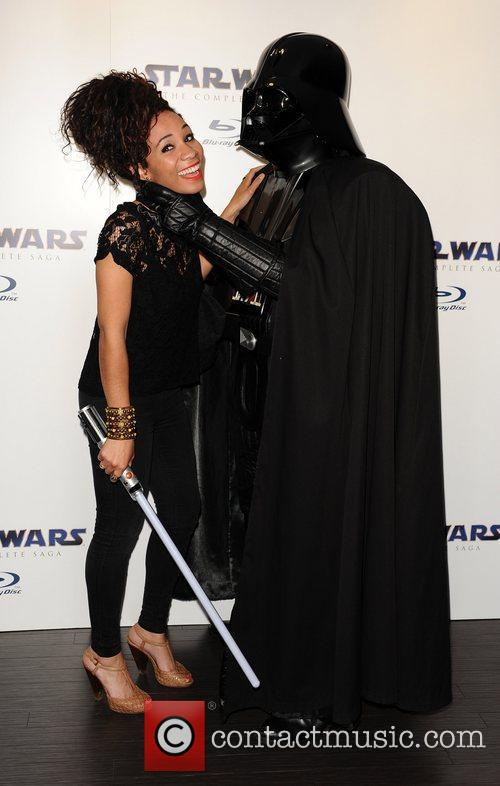Michelle Ackerley Star Wars Blu-Ray - launch party...