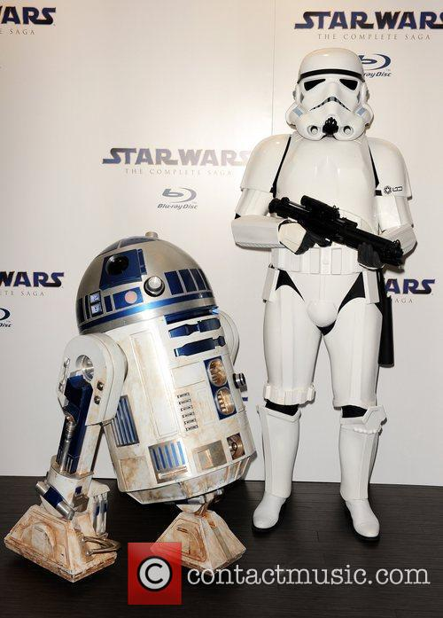 R2D2 and a Stormtrooper Star Wars Blu-Ray -...