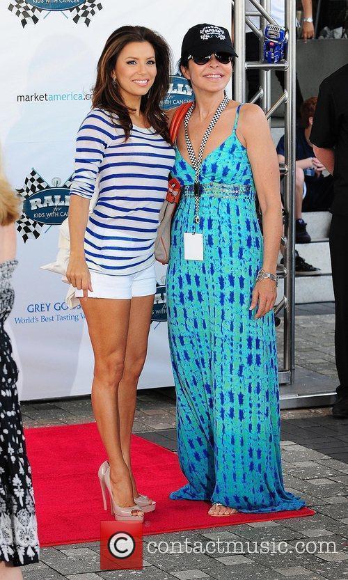 Actress Eva Longoria and Maria Conchita Alonso arrive...